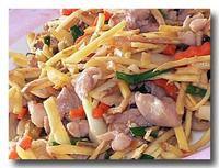 ガイパッキン 鶏肉と生姜の炒め物アップ