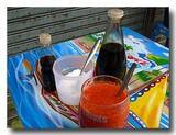 カポップラーナムデーン 魚の浮き袋のあんかけスープ屋台の調味料セット