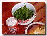 ラモン/ラトゥ/ラウィ-ラウィ/ラウト・アングール/海ぶどうをわさび醤油でいただく