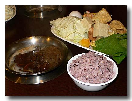 紅焼羊肉爐:醤油系の羊鍋セット
