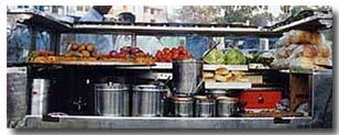 パオパジ屋台のキッチン